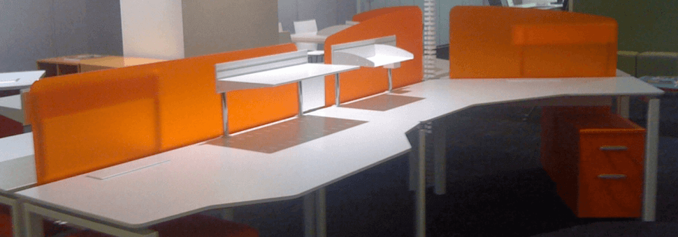 PERSPEX Frost - Workstations Orange Crush