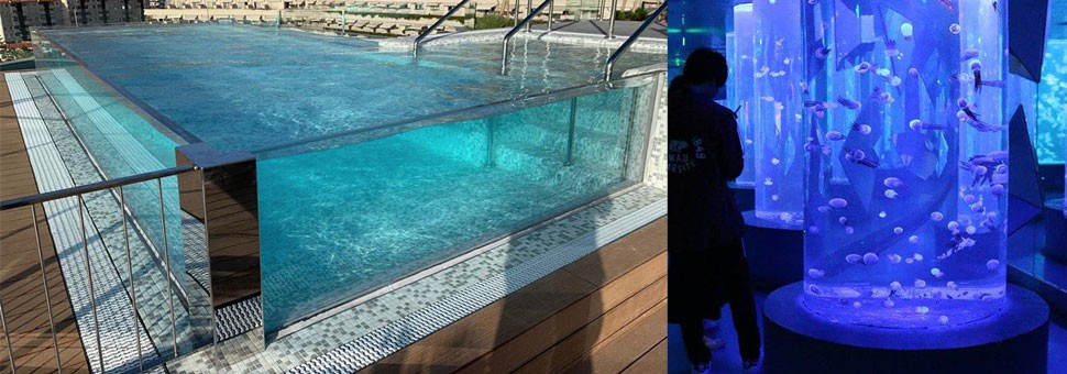 Acrylic DONCHAMP® Splash Pool Windows / Aquariums