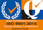 ISO Certificate ISO 9001:2015 AU1506